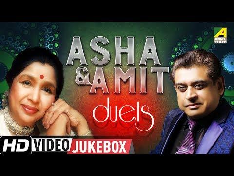 Asha Amit Duet Songs | Evergreen Romantic Hit Bengali Movie Songs Video Jukebox
