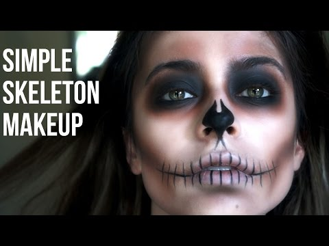 Simple Skeleton Makeup// Last Minute Halloween