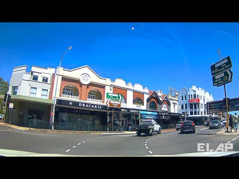 SYDNEY, Australia  - driving from MANLY BEACH  to NORTH SYDNEY