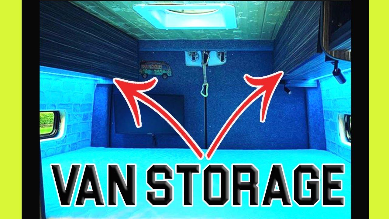 Building Custom STORAGE in your VAN BUILD #shorts