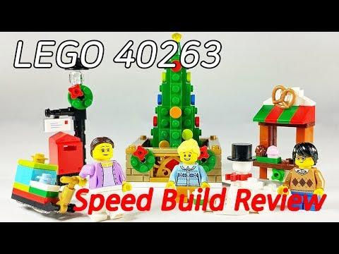 [레고 40263] 크리스마스 타운 광장(Christmas Town Square SET) - 조립 리뷰(Speed Build Review)_레고매니아_LEGO Mania