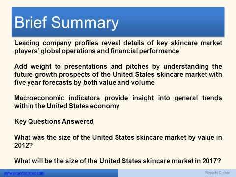Skincare in the United States - Reports Corner