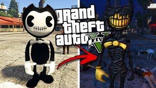 Скачать BENDY AND THE INK MACHINE MOD W BENDY EVIL BENDY GTA 5 Mods Gameplay