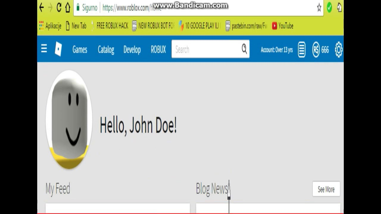 I Hacked John Doe On Roblox 666 Robux Must Watch Youtube