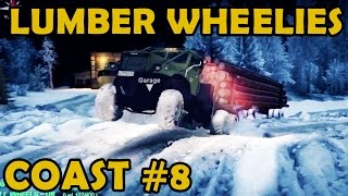 spin tires coast 8 winter time heavy lumber load with the kraz 255b