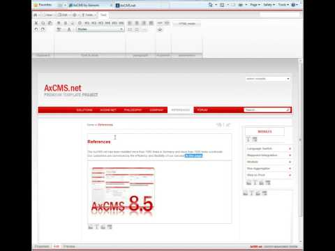 AxCMS.net 9 Sneak Preview - Silverlight 3 Ribbon UI