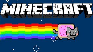 Minecraft : Nyan Cat Mod in Minecraft!!