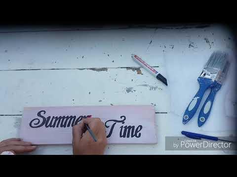 Woodsign Summer Time Diy