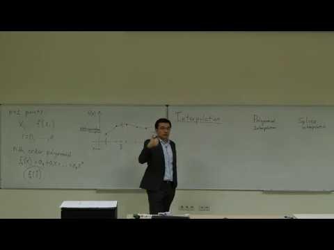 Computational Physics Lecture 17, Interpolation