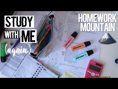 (another) STUDY WITH ME - HOMEWORK DAY - A-Levels // (sunday edition #2)