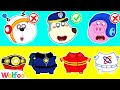 - Wolfoo Playing Professions for Kids with Funny Career Costumes: Police, Astronaut   Wolfoo Channel