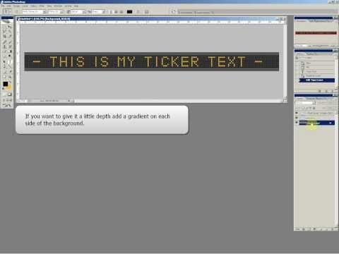 Photoshop Video Tutorial  -  Billboard  Banner Text - Ticker