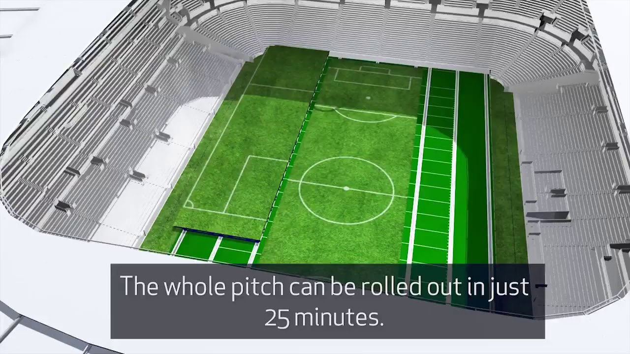 New Spurs Stadium Retractable Pitch Official Video