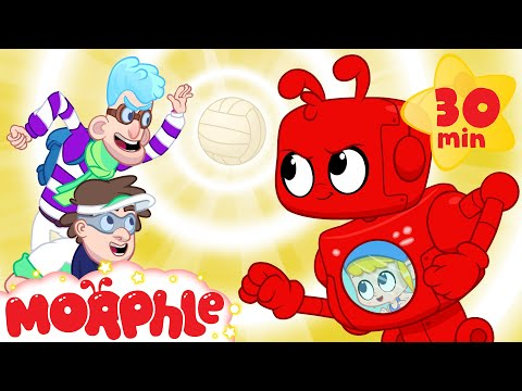 Morphle's Beach Volleyball - Mila and Morphle | Cartoons for Kids | My Magic Pet Morphle