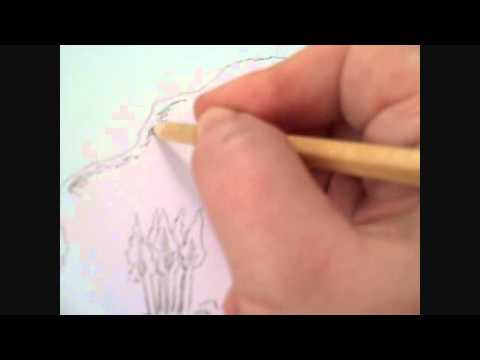 Drawing A Treasure Map Part 1 - The Pencil Sketch