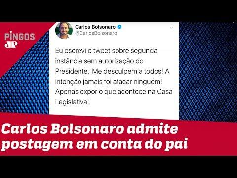 Carlos Bolsonaro se desculpa por post em rede social do pai