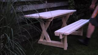 Picnic table and bench 2 in 1