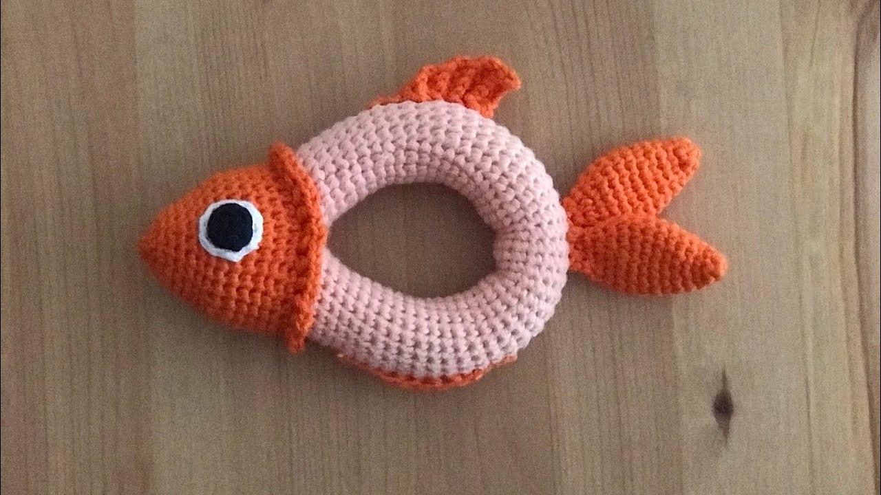 Amigurumi Balık Çıngırak tarifi video2 #rattle #toy #oyuncak #fish