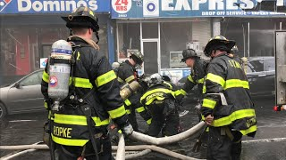FDNY BOX 3370 - FDNY BATTLING MAJOR 4TH ALARM FIRE IN A TAXPAYER ON WEBSTER AVENUE IN THE BRONX, NYC