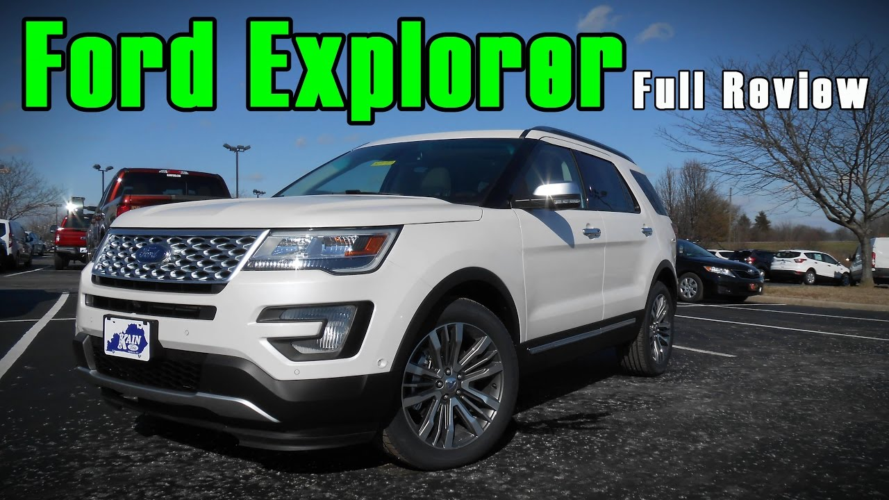 2017 Ford Explorer Full Review Platinum Sport Limited Xlt You