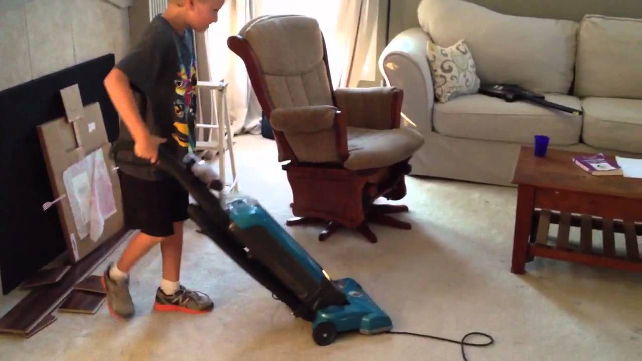 How To Get Your Kids Vacuum A Room