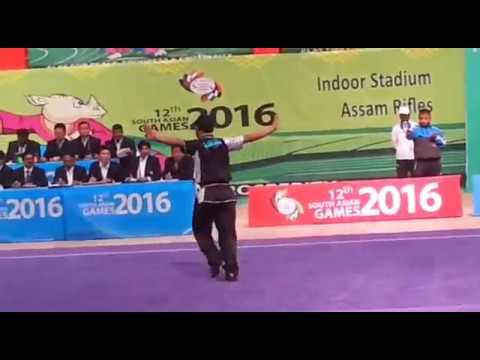 12th south asian games-india,2016 wushu men's changquan from NEPAL
