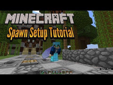 Minecraft 1.12 - Server Spawn Setup Tutorial - Vanilla Minecraft