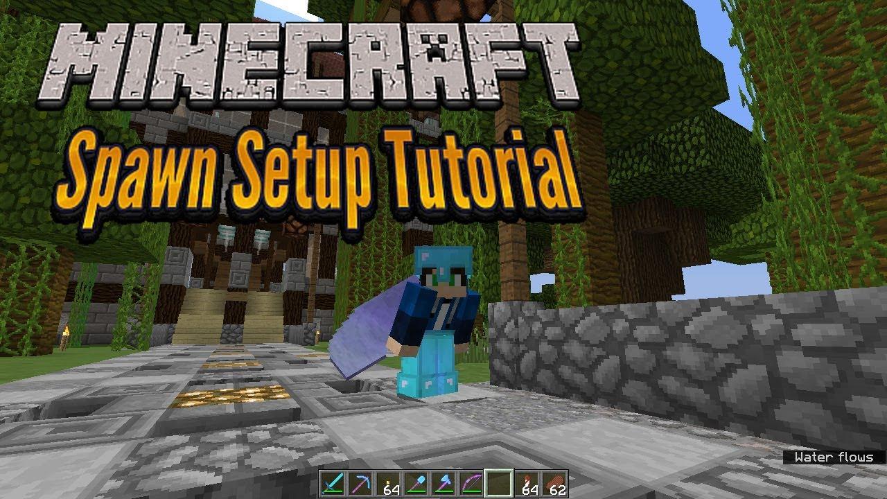 Minecraft 12.122 - Server Spawn Setup Tutorial - Vanilla Minecraft