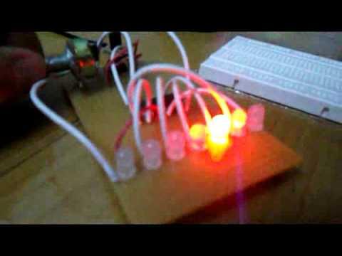[Điện Tử]Test Mạch led nháy đơn dùng ic 4017 và ic 555