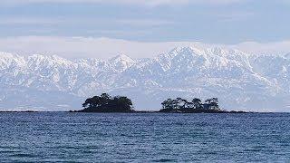 冬の「立山連峰」眺望 Tateyama Mountain Range View in Winter ( Shot on RED EPIC )