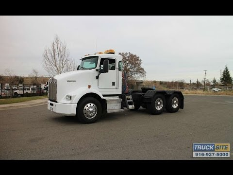 Kenworth Box Truck >> 2000 Kenworth T800 Day Cab Tractor for sale by Truck Site - YouTube