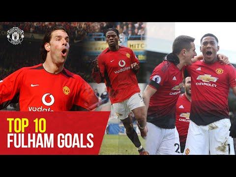Top 10 Goals v Fulham  | Manchester United v Fulham | Manchester United