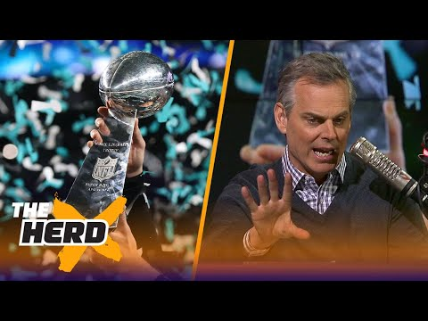 Colin Cowherd reacts to the Eagles beating the Patriots to win Super Bowl LII  THE HERD