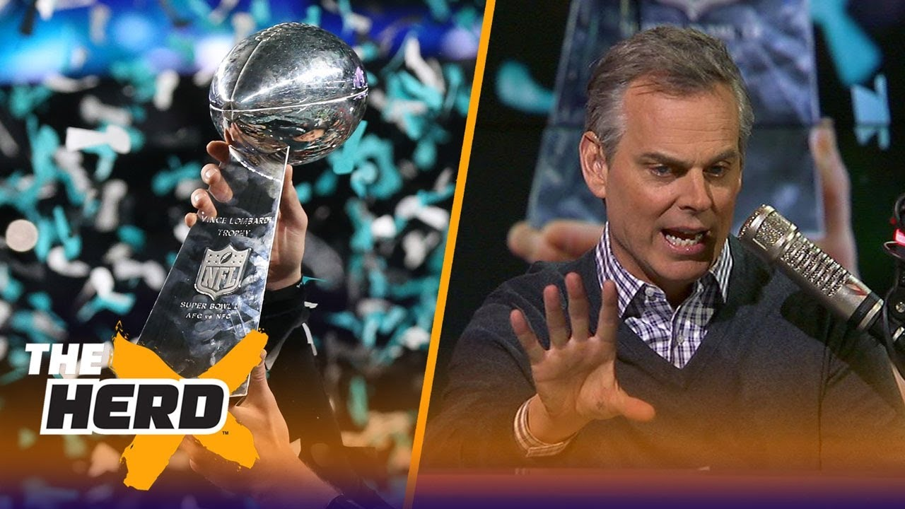1e0bb4ff4045 Colin Cowherd reacts to the Eagles beating the Patriots to win Super Bowl  LII