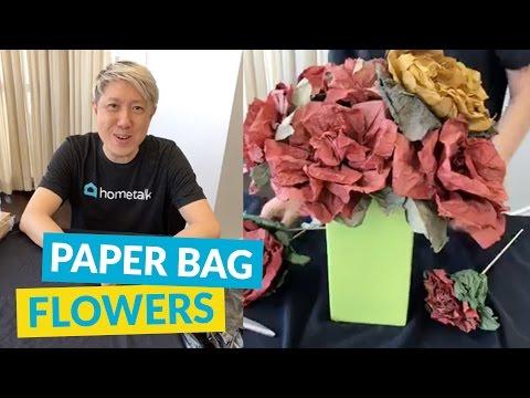 DIY Fake Flowers Using Paper Bags!