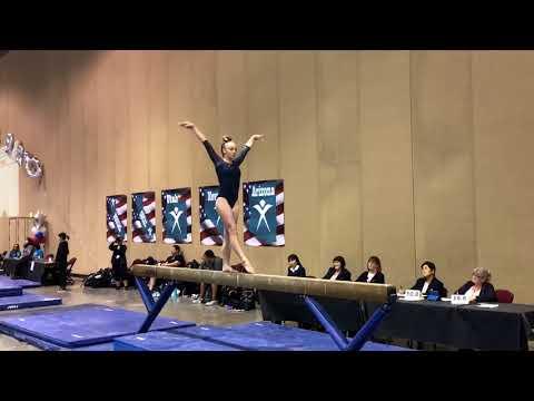 2018 - Level 8 - Region 1 Championships Apr15, 2018- Sierra K. (Gold Medal Gymnastics) - Beam