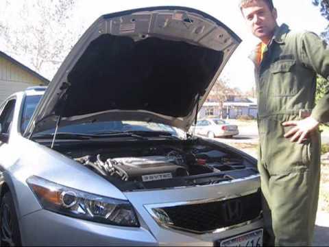 Oil change on 2009 Honda Accord V6 - YouTube