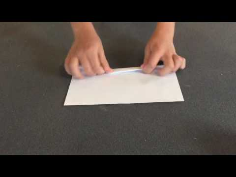 How to make a flying paper cylinder that glides through the air