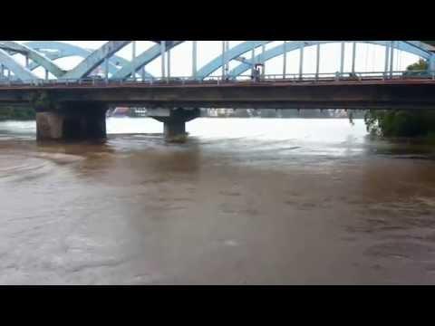 Flood at marthandavarma bridge Aluva(view from Hotel Periyaar)