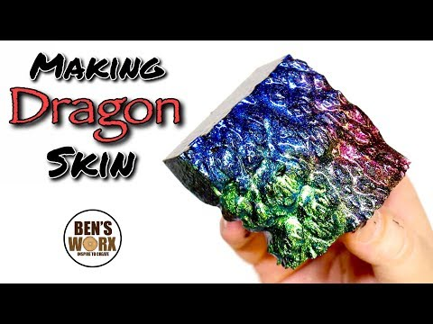 How to Make Dragon Scale Effect - Resin Art