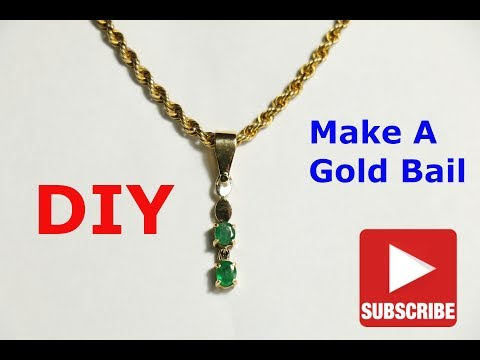 DIY Jewellery - Make A Gold Bail For A Pendant
