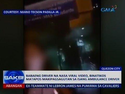 Babaeng driver na nasa viral video, binatikos matapos makipagsagutan sa isang ambulance driver