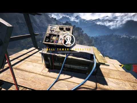 Far Cry 4 - PC 60 FPS First Bell Tower and Hang Gliding. Glorious!