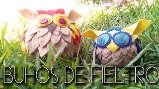 buhos de fieltro - Felt owl Thumbnail