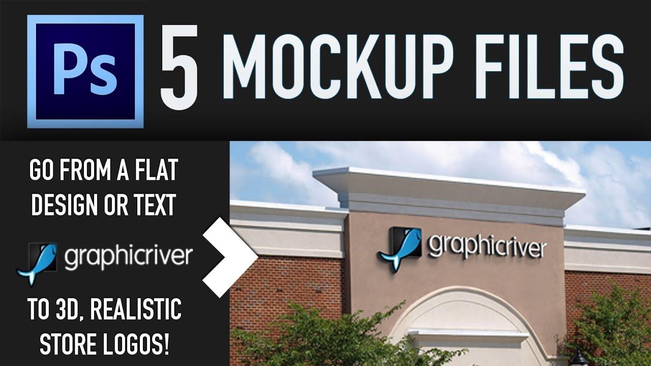 Store Logo Mock Ups Pack For Photoshop Youtube