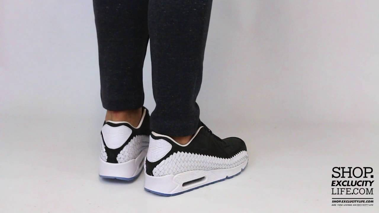 e411e3a83d ... clearance nike air max 90 woven premium white black on feet video at exclucity  youtube 22690