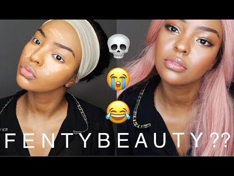 NEW RIHANNA FENTY- GLOSSY LIDS! Ft. BHAIREXTENSION PINK WIG   ASHA