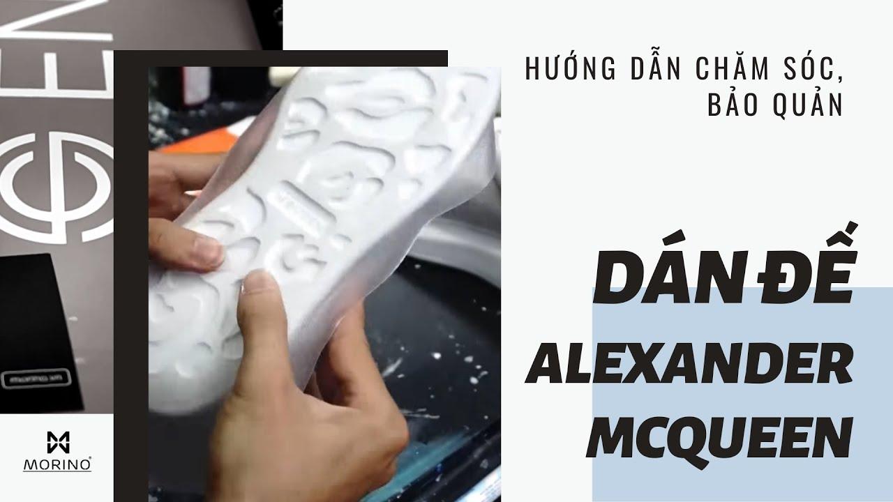 [Cách chăm sóc giày] Dán bảo vệ đế cho em Alexander McQueen