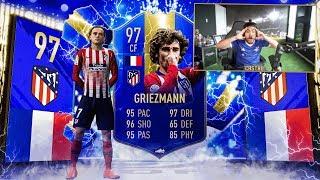 97 TOTS GRIEZMANN IN A PACK!! 25 GUARANTEED LA LIGA PACKS!! FIFA 19