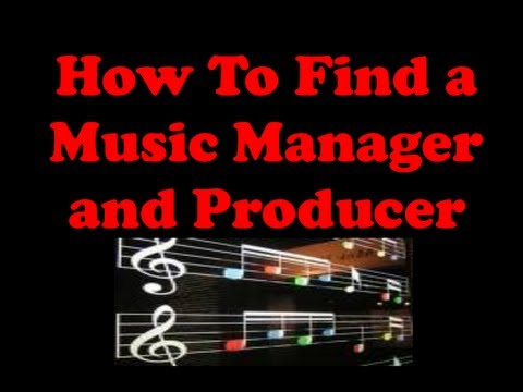 How to Find a Music Manager and Music Producer